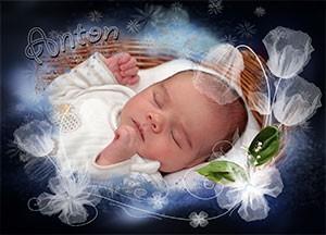 Geburtsanzeigekarte Babykarte
