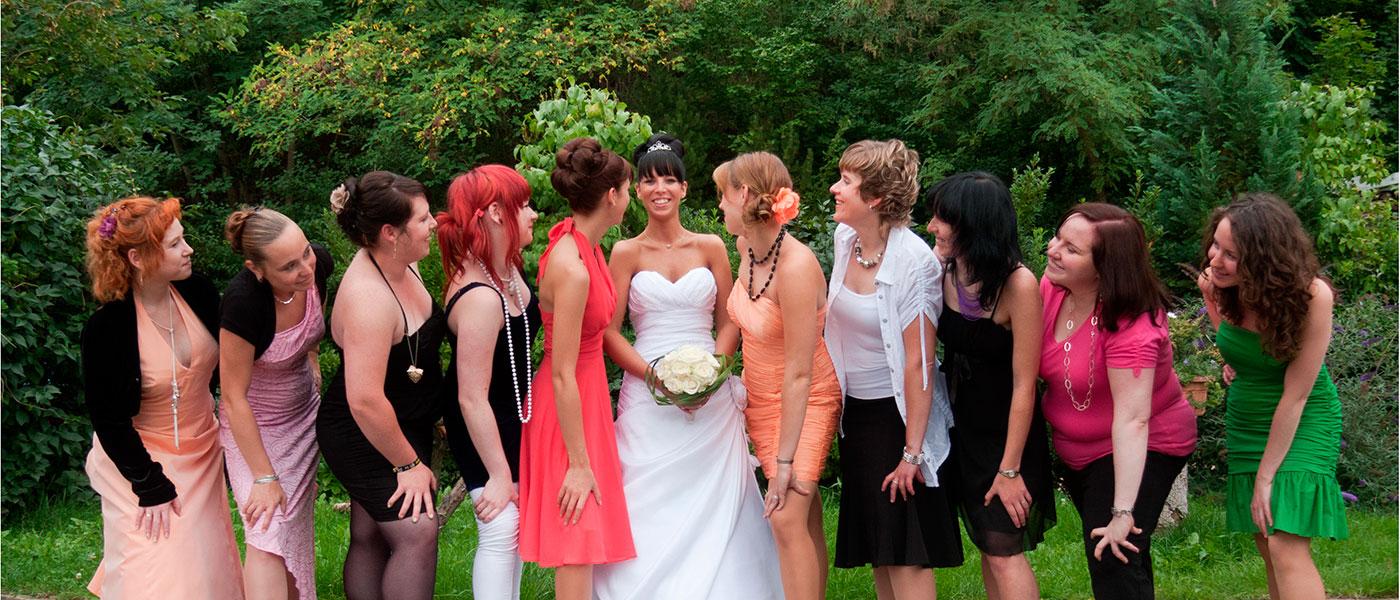 Hochzeits-Gruppenfoto
